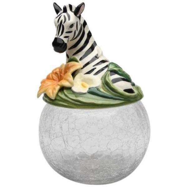 Cosmos Hadiah 10804 Zebra Cookie/Jar Permen dengan Tutup Keramik, 9-1/2-Inch-Intl