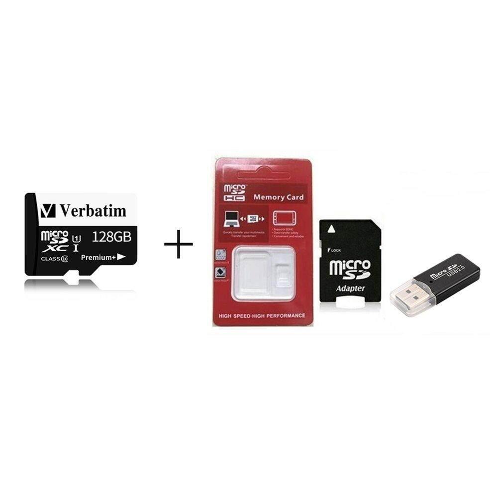 Speed Micro Aman Kartu Memori Digital dengan Adaptor Pembaca Kartu Set ( Hitam + 128G)