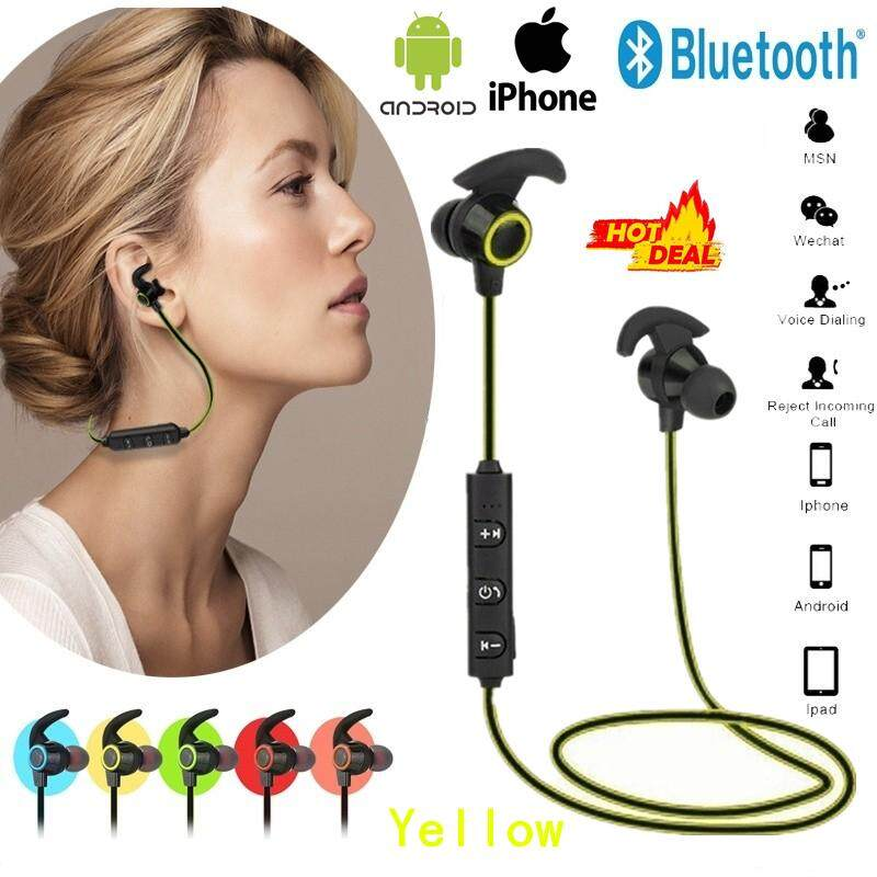 Joetxo Bluetooth V4.2 Headset Nirkabel Pelantang Bas Menjalankan Headphone Olahraga dengan MIC untuk iPhone Xiaomi Huawei Oppo Vivo