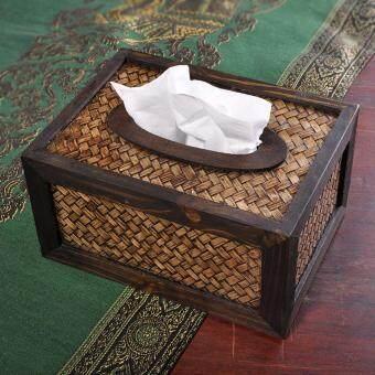 ขายช็อก BolehDeals Bamboo Tissue Box Dispenser Cover Napkin Paper Holder Paper Towel Case ซื้อเลย - มีเพียง ฿334.60
