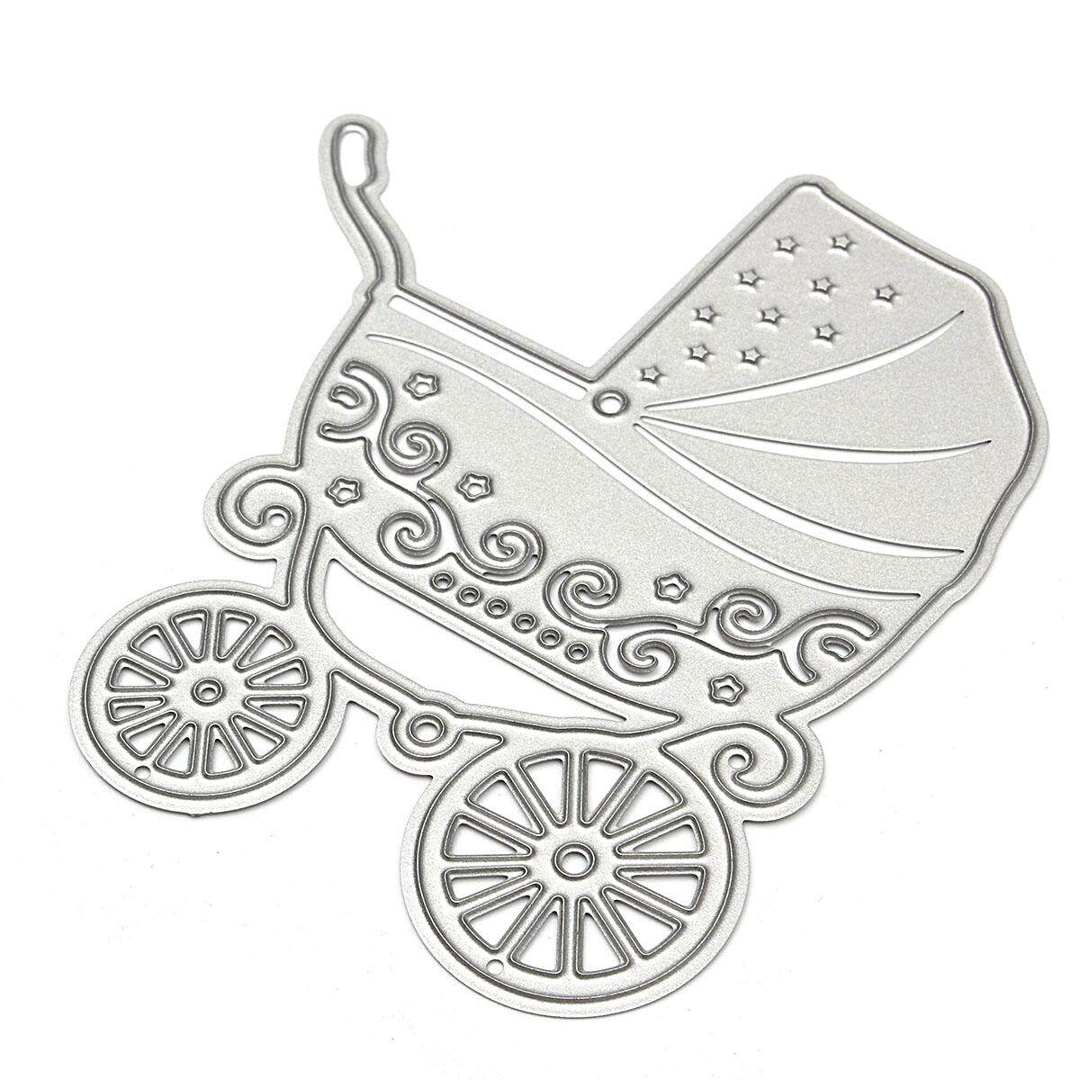 Baby Carriage Cutting Dies Stencil Scrapbook Card Album Embossing Craft Decor By Glimmer.