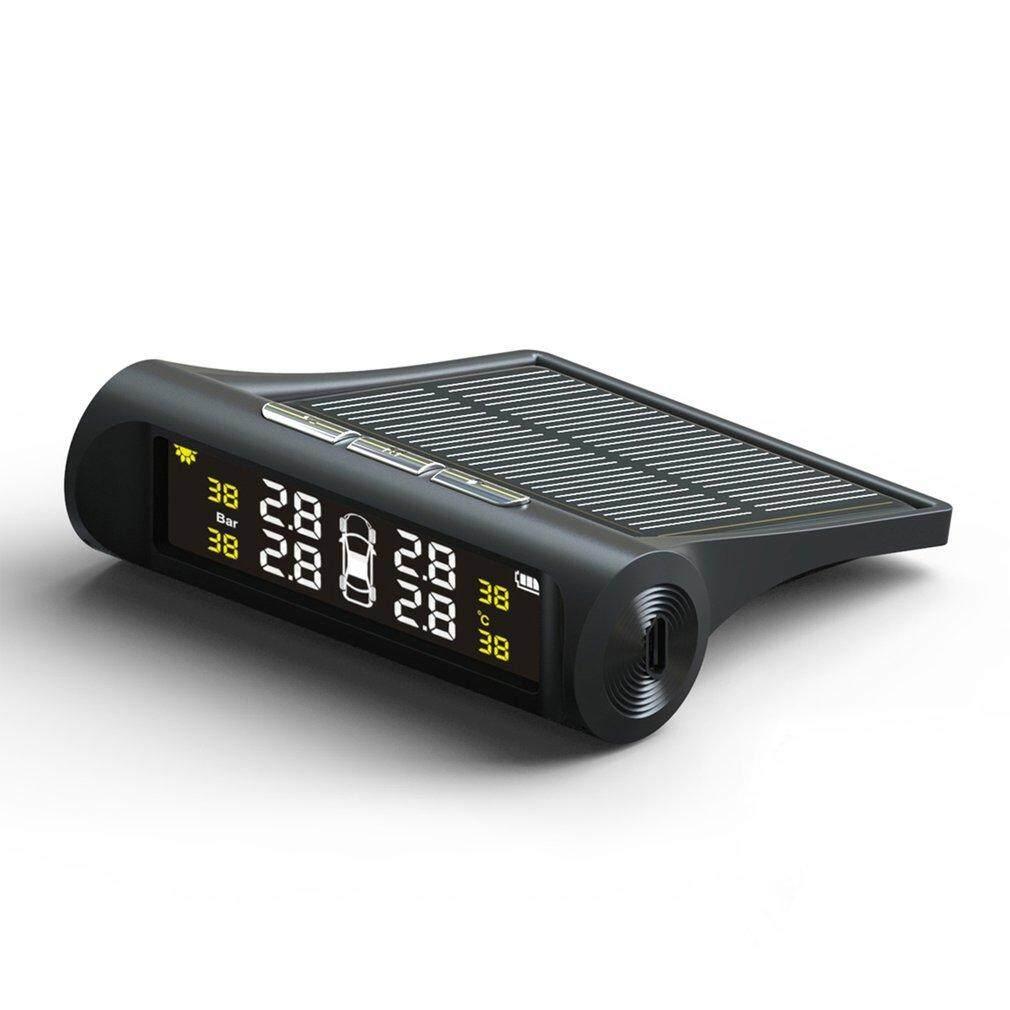 Bán Chạy nhất Ô TÔ Thông Minh TPMS Năng Lượng Mặt Trời Áp Suất Lốp Xe Máy Năng Lượng Mặt Trời Sạc MÀN HÌNH LCD Kỹ Thuật Số