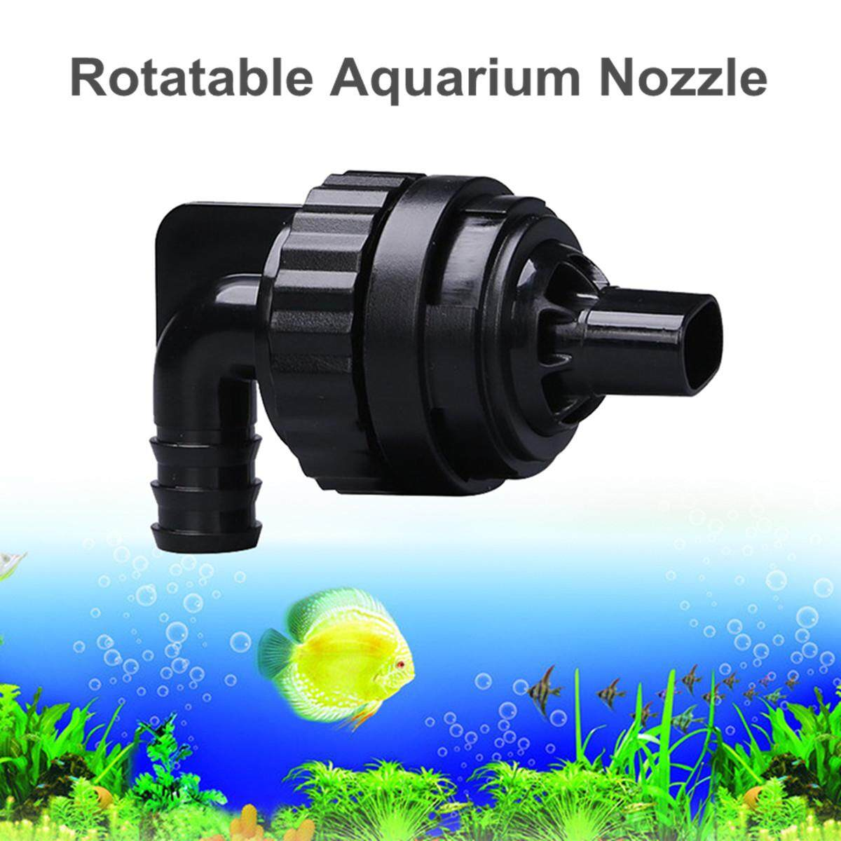 Rotatable Aquarium Fish Tank Water Outlet Nozzle Return Pipe Plumbing Fittings By Moonbeam.