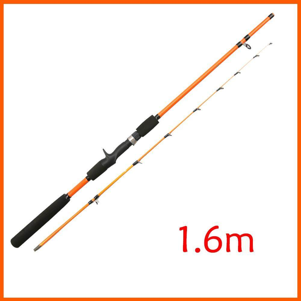 Ajiking Rod Jigging Convenient Telescopic Rotary Casting Fishing Rod Glass Steel High Performance Fishing Rod 1.6 1.8 2.1 2.4m - intl
