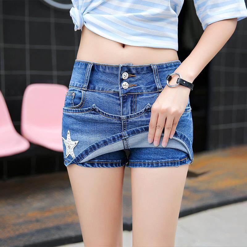 2018 Women's Wear New Type Shorts Bottom Jeans Look Skinny Denim Short Pants Skirt Anti-running Hot Pants - intl