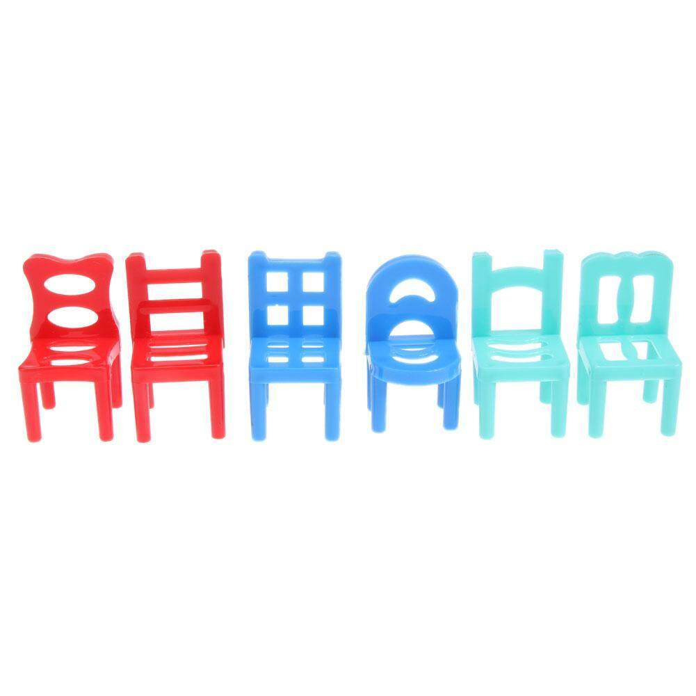 Hình ảnh 6pcs Hollow Geometric Chair for Barbie Dolls Accessories Play House Toys Gift - intl