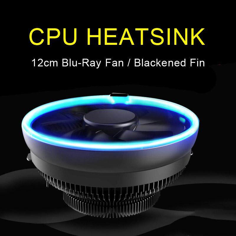 YBC LED CPU Cooling Fan Silent PC Cooler Radiator for AMD AM3 AM4 Intel 775 115X Malaysia