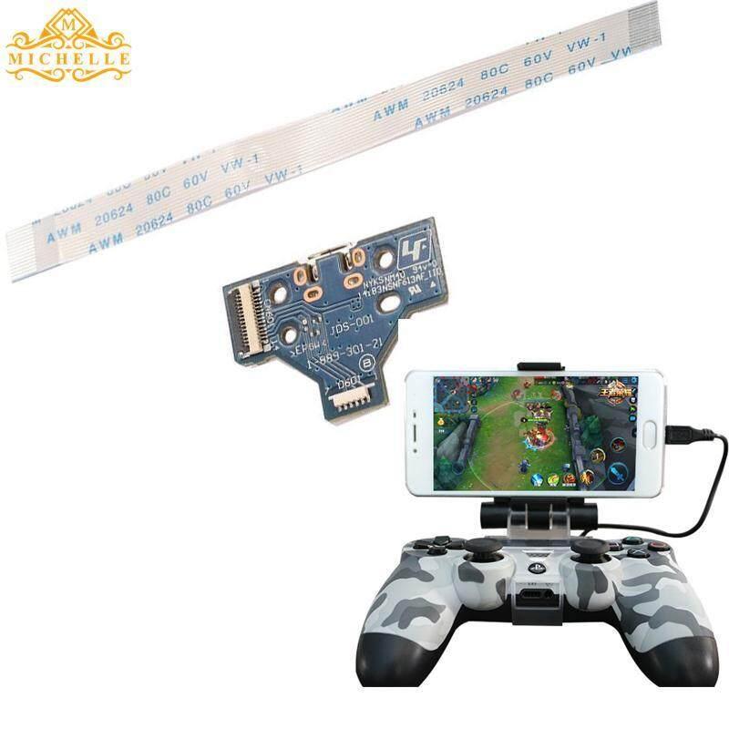 14Pin Mikro USB Port Pengisian Daya Soket JDS-001 untuk PS4 Gamepad + Kabel Lentur