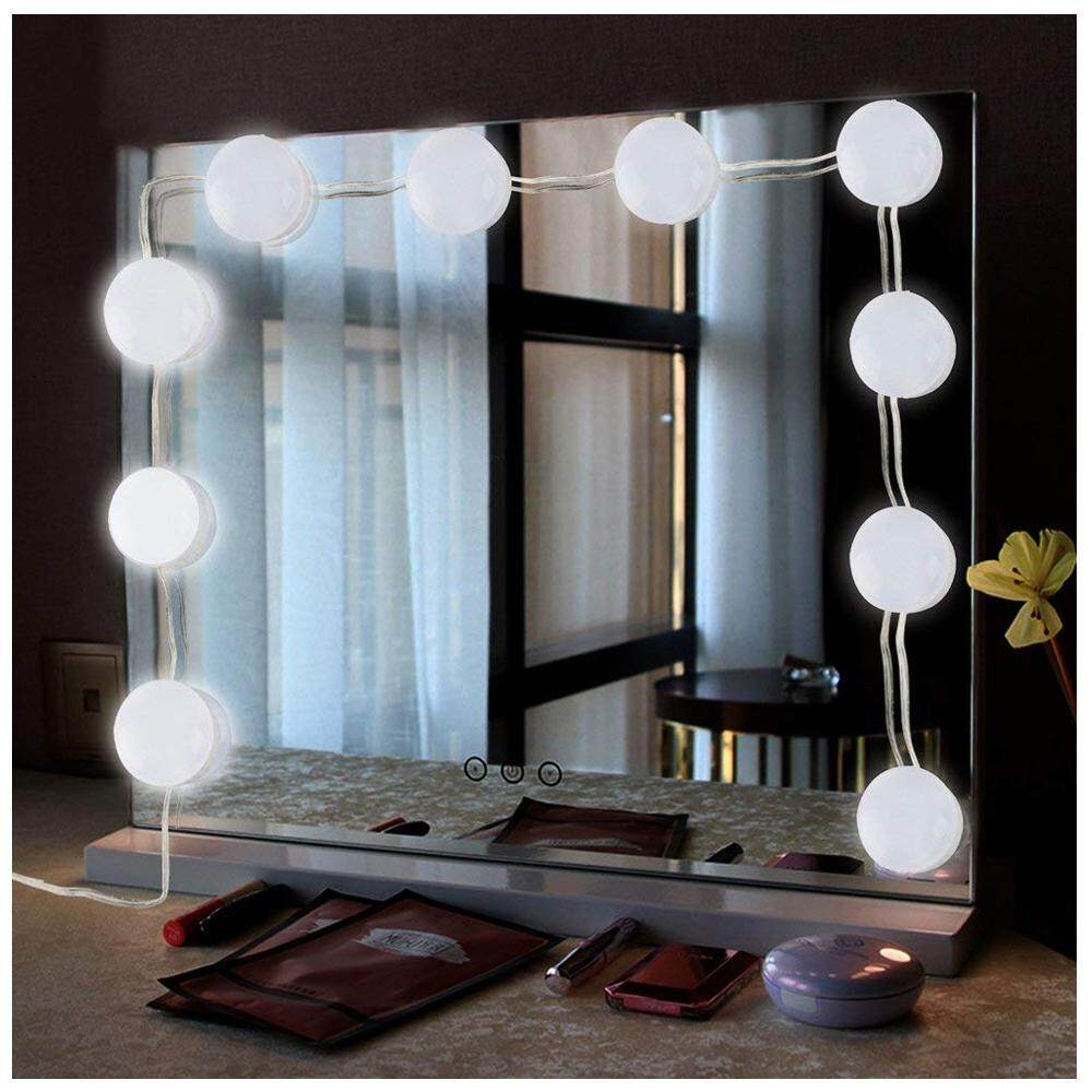 LightSmile Hollywood Style LED Vanity Makeup Mirror Lights Kit with 10 Dimmable Bulbs 7000K White Flexible LED Light for Touch Makeup Vanity Table Set in Dressing Room(Mirror Not Included) US/EU/UK Plug Philippines