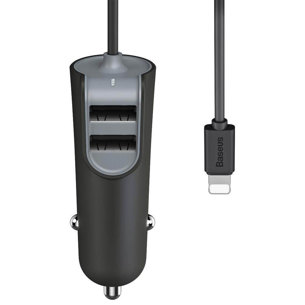 Baseus 2.1A Dual USB 5V 5.5A Quick Charging Car Charger with .