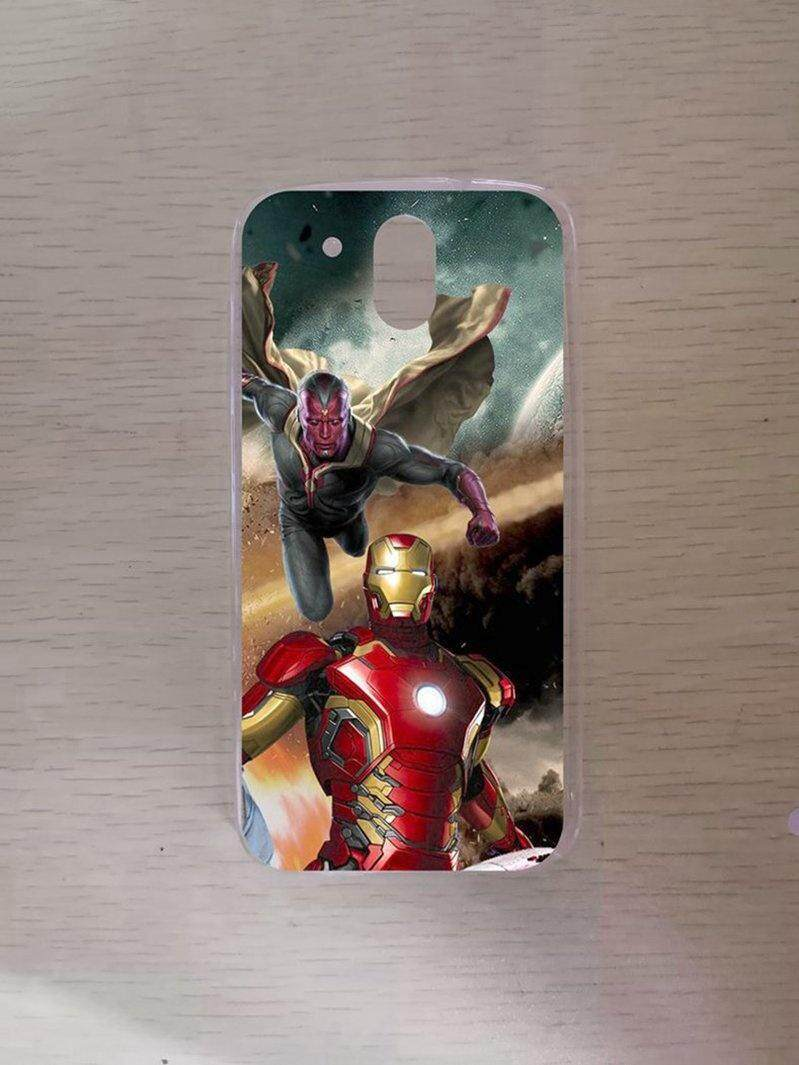 Avengers Red iron Man Silicon High Quality TPU Soft Case Cover For HTC Desire 526 - intl