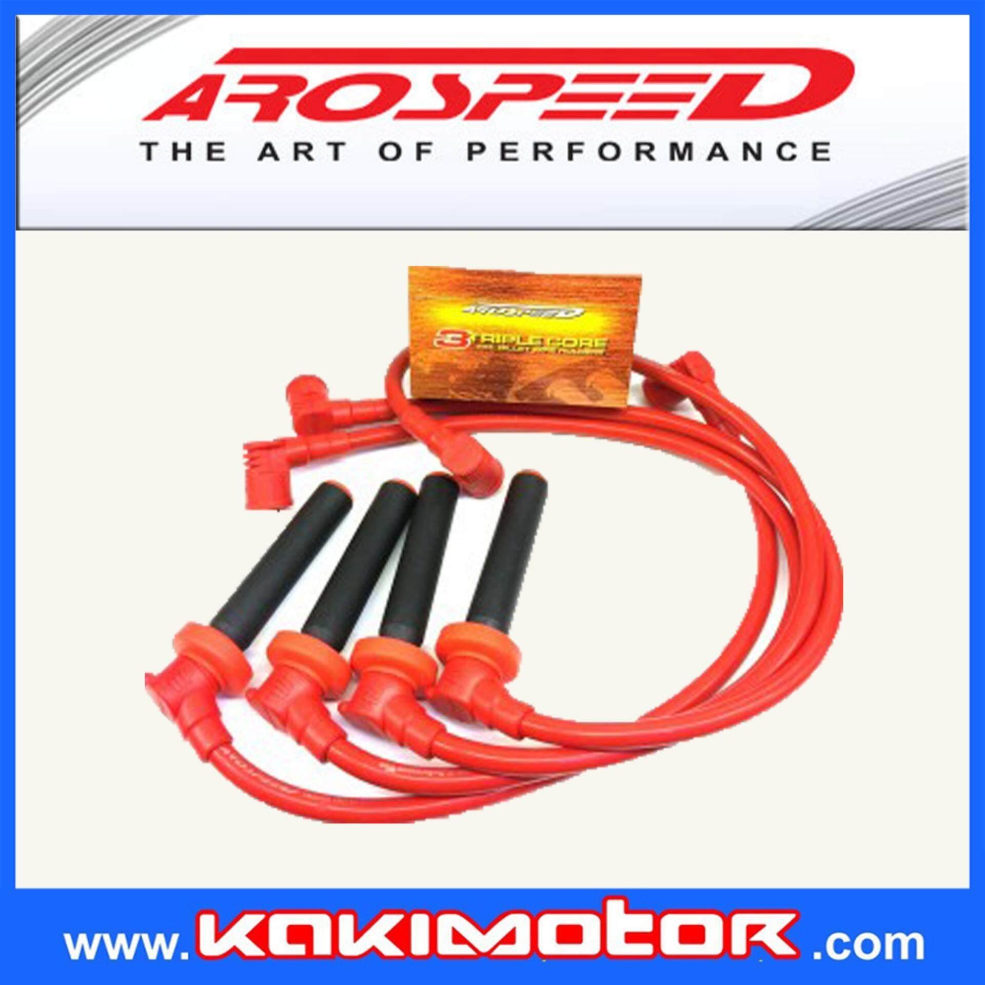 Arospeed Tri Core Honda Accord H22a Spark Plug Cable Plugs