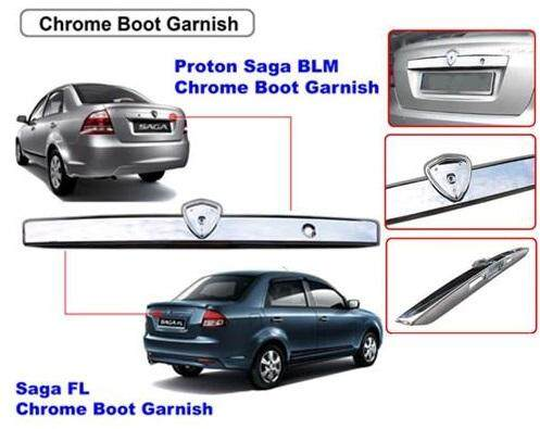 PROTON SAGA BLM/FLX REAR BONNET GARNISH MOULDING-CHROME