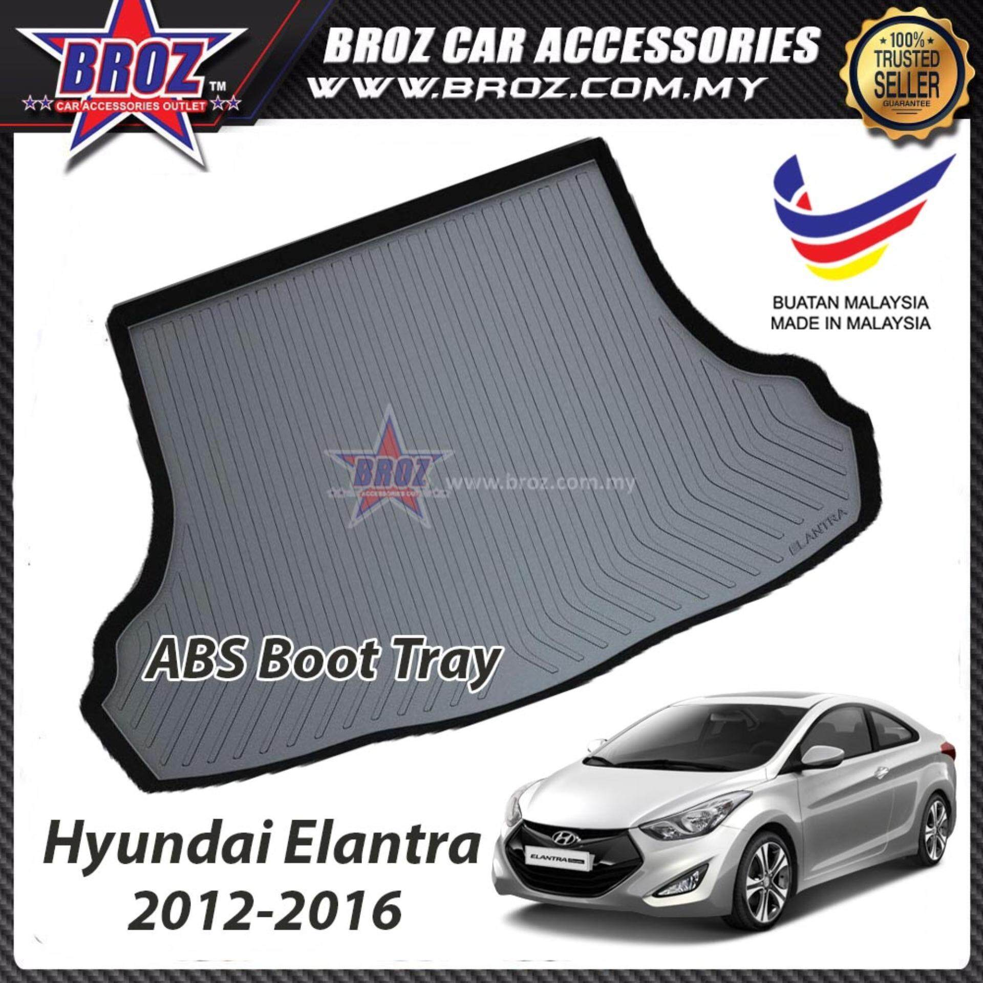 Hyundai Elantra 2012-2016 ABS Car Rear Boot Trunk Tray