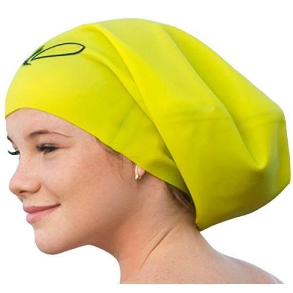 Panjang Rambut Berenang Tutup-Tutup Renang untuk Wanita Pria-Tambahan Besar Berenang Topi-Premium Anti-Air Silikon Berenang tutup-Gimbal-Setelan Perenang Rekreasi-Internasional