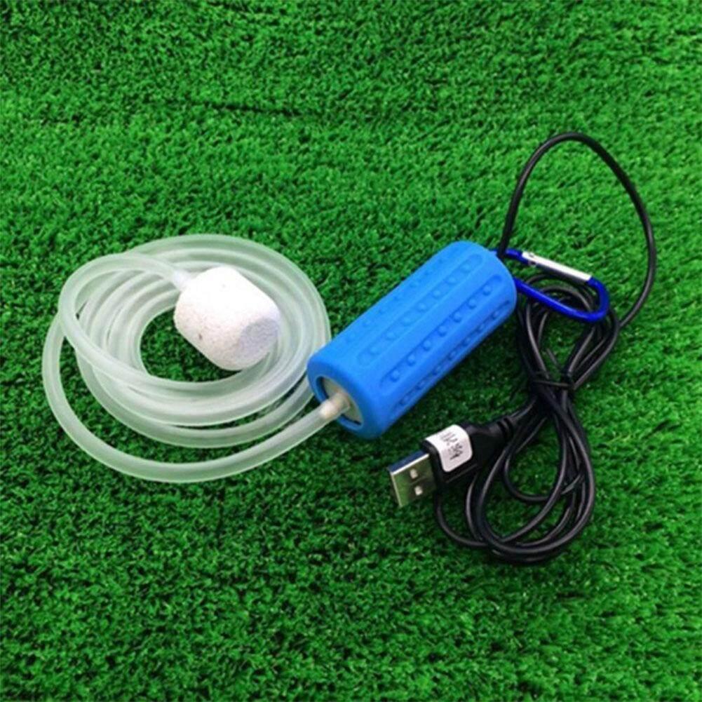 Qimiao USB Mini Portabel Aquarium Tangki Oksigen Ikan Pompa Udara Bisu Hemat Energi Perlengkapan Aksesoris