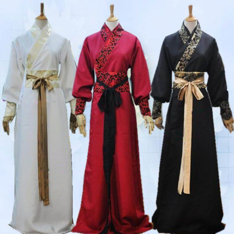 Fashion Chinese Men Han Clothing Chevalier Scholar Photo Show Cosplay Suit Robe Costume By Suyuer123.