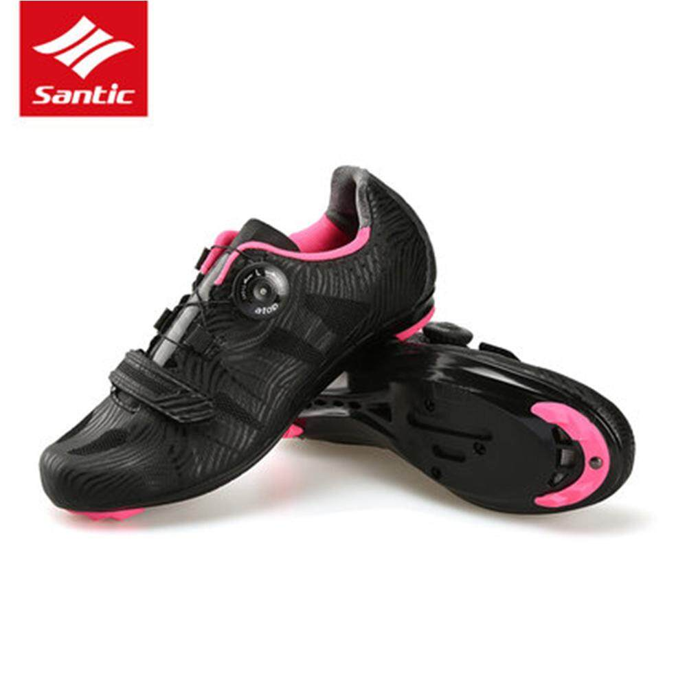 Santic Women Cycling Road Shoes Lace-Up Cycling Athletic Racing Team Bicycle Shoes Breathable Cycling Clothings Mtb Shoe By Linkcool.
