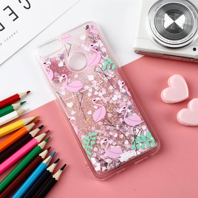 Akabeila Flamingo Silikon Sarung Xiaomi Mi A1 MiA1 Serta 5X Mi5X 5.5 Inch Mencakup Cairan Glitter