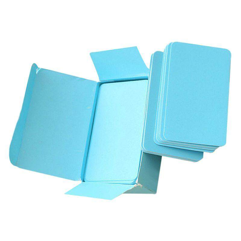 ... Blank Handwritten Paper Message Card Business Thank You Cards for Memo Wedding Party Greeting blue -