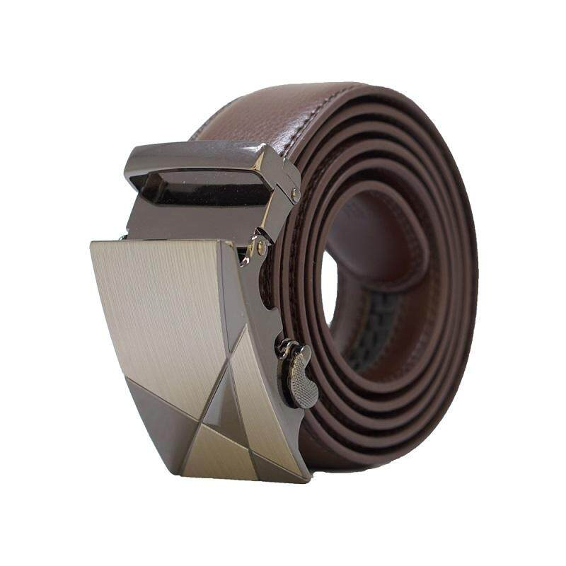 A56 High Quality Original Men Calf Skin Business Man Automatic Leather Belt - Adjustable Strap for Size M , L