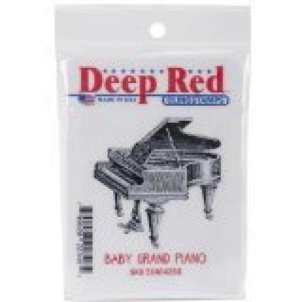 Deep Red Stamps Piano, Baby Grand Rubber Stamp - intl