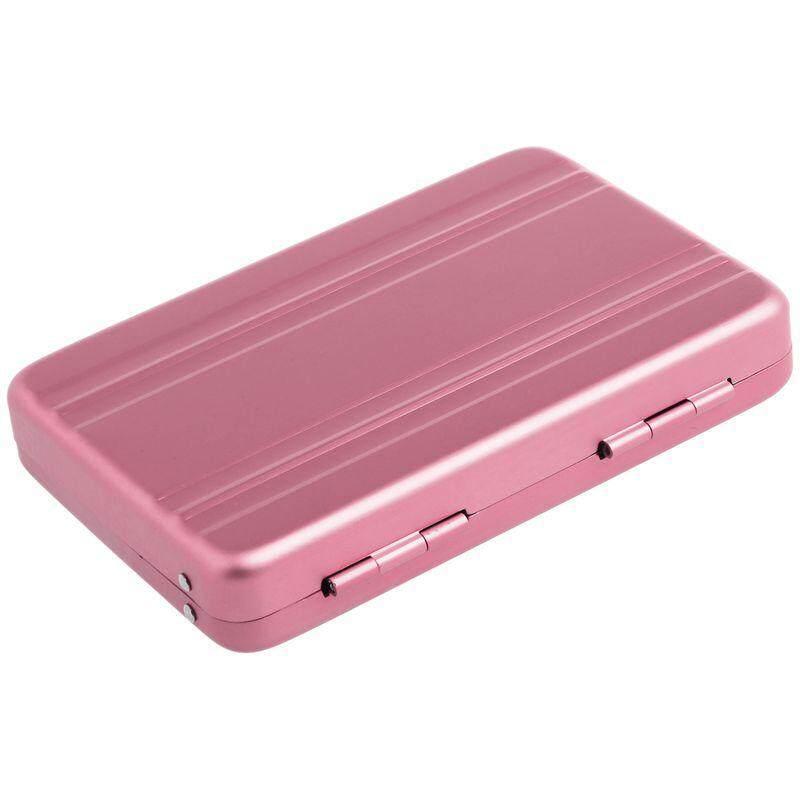 Aluminium Kotak Kata Sandi Kartu Case Mini Kata Kunci Koper Tas Berwarna Merah Muda-Internasional ...