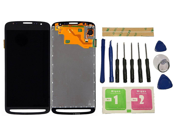 EMK untuk Samsung Galaxy S4 Aktif GT-I9295 I9295 LCD Layar Sentuh Layar Digitalisasi Hitam Perakitan Perbaikan Bagian Pengganti + Alat + Perekat (Tidak Ada frame)