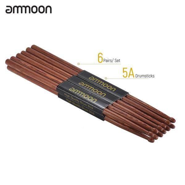 Ammoon 6 Cặp Dùi Trống Gỗ 5A Bộ Phụ Kiện Trống Gỗ Gụ