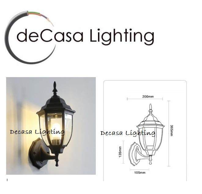 Wall Light DECASA OUTDOOR WALL LIGHT-APH-5018S-W-BLACK OR WHITE