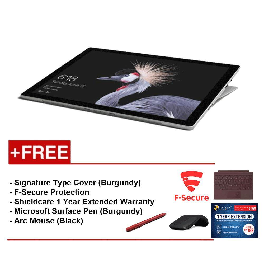 NEW Microsoft Surface Pro-Core i5 8G/256GB Free Surface Pro Type Cover (Burgundy) + Shieldcare 1 Year Extended Warranty + F-Secure End Point Protection + Arc Mouse (Black) + Microsoft Surface Pen (Burgundy) Malaysia