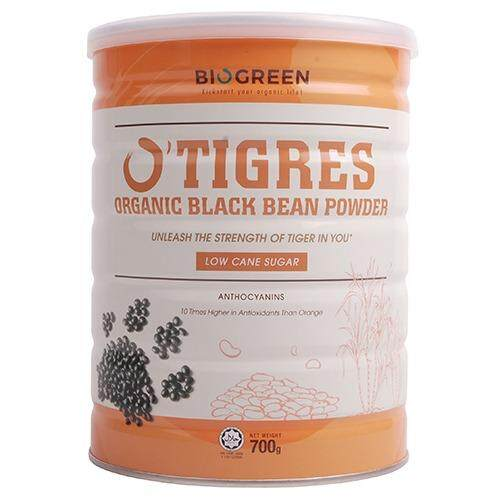 Biogreen O Tigres Black Bean Powder Low Cane Sugar 700G
