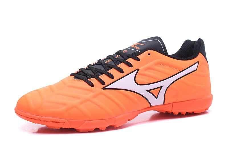 Football Mizuno Rebula V1 DF TF Football Shoes Men's Mizuno Rebula V1 Made in JP MD Soccer Cleats Orange/White/Black - intl