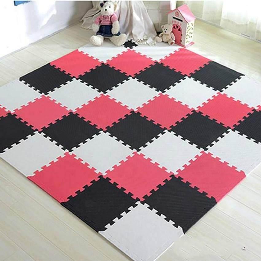 Deyuan 36 Pcs baby EVA Foam Play Puzzle Mat/ Interlocking Exercise Tiles Floor Carpet Rug for Kid,Each 30cmX30cmx 0.8/1cmThick