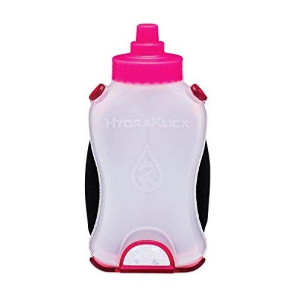 Solo 8 - Hands-free hydration clamp with bottle for waistband or running belt - intl