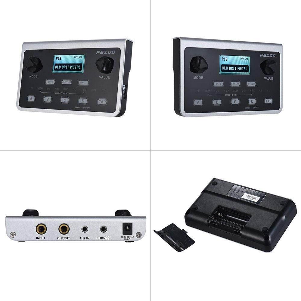 Mooer PE100 Portable Multi-Efek Prosesor Efek Pedal Gitar 39 Efek 40 .