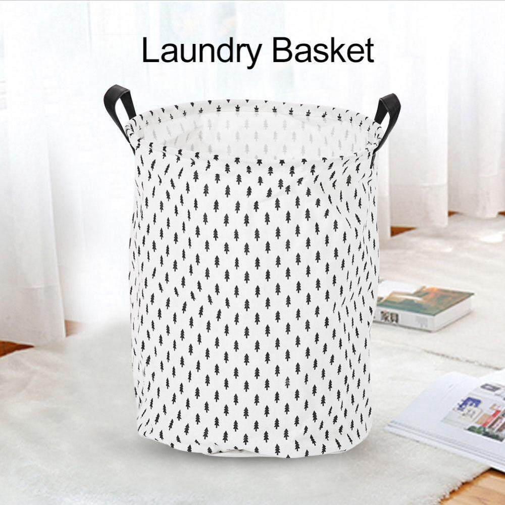 Foldable Standing Storage Bin Bag Kids Toy Clothes Laundry Basket Household Organizer #Trees - intl