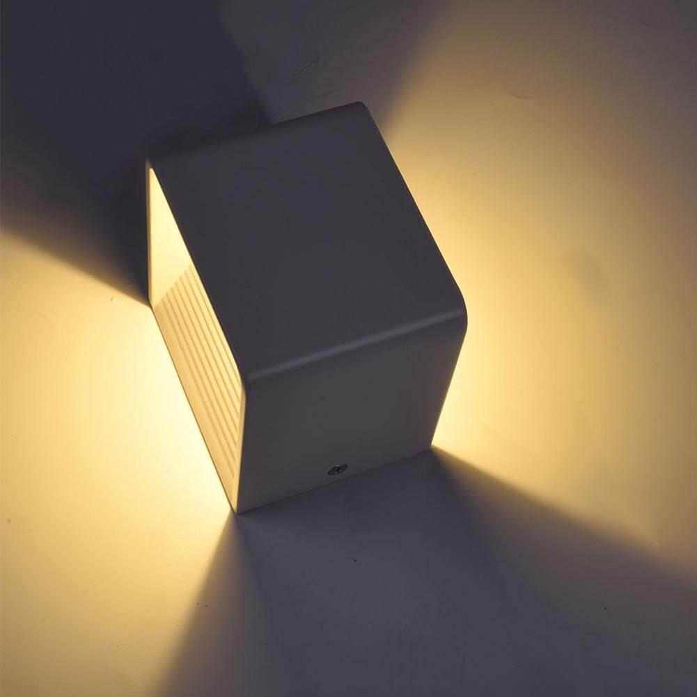 Square LED Wall Lamp Stylish Aluminum Cube Indoor Lighting Lamp Bedroom Sanctum Aisle Stair Lighting 10x10x8 7w