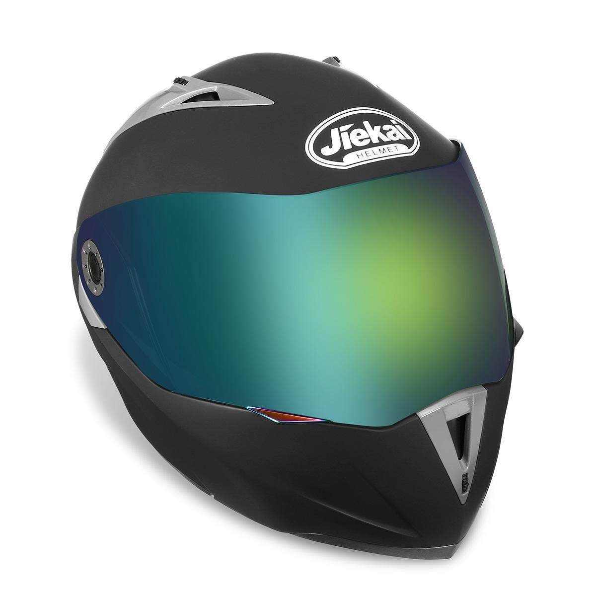 Helm Sepeda Motor Ganda Kedok Lipat Hingga Penuh Wajah Balap Motocross Warna Tidak Mengkilap Hitam XL-Internasional