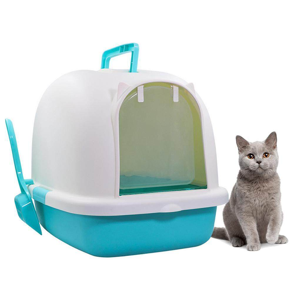 Hình ảnh Efuture Pet Xách Tay Nhà Vệ Sinh Lớn Nhựa Khay Cát Đi Vệ Sinh Cho Mèo Việc Chọn Lọc Khay Kitten Nhà Vệ Sinh Pan Dễ Lau Chùi