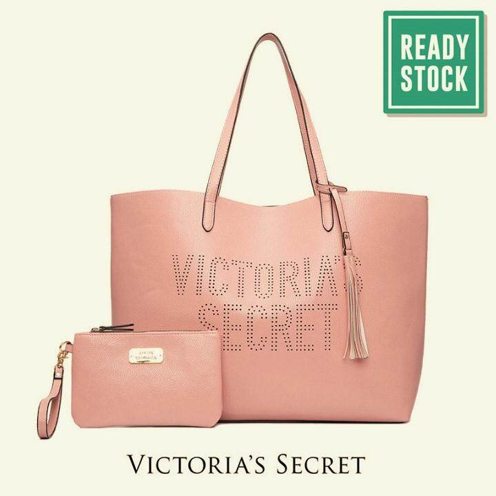Authentic Victoria S Secret Large Tote And Wristlet Set Pink