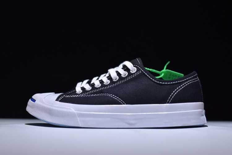 Discount! Original New Style 2018 Unisex Convers JACK Purcell Signature Low Top Women's and Men's Sneakers Stars Canvas Casual Shoes Color: Black/White - intl
