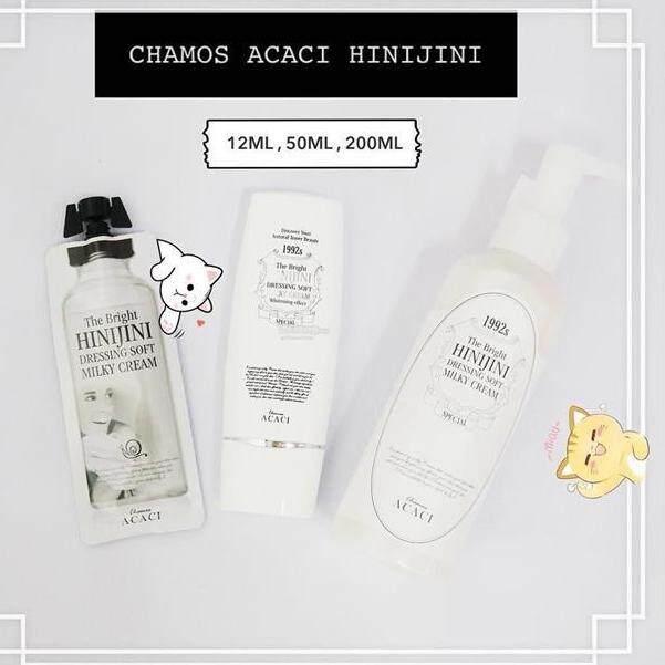 CHAMOS Acaci The Bright Hinijini Instant Whitening Cream Mask 12ml, 50ml, 200ml