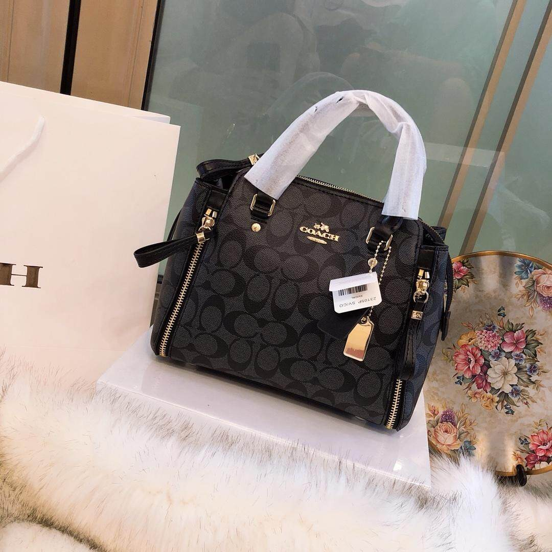 Latest Coach Women Tote Bags Products Enjoy Huge Discounts Lazada Sg Zip Top In Signature Jacquard
