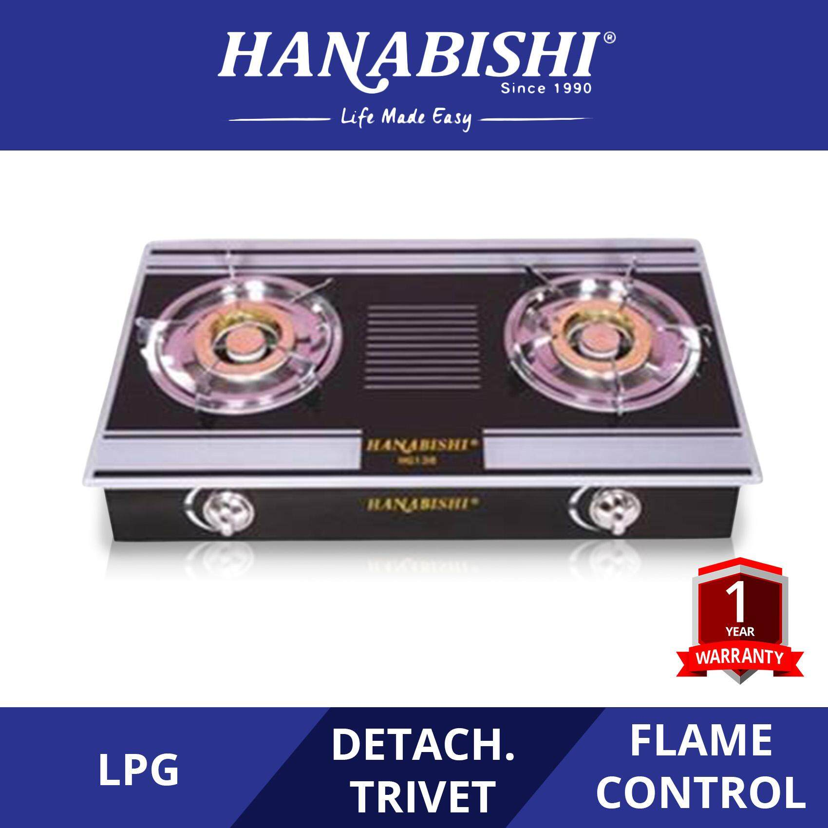 Hanabishi Table Glass Top Two Ring Burner HG138