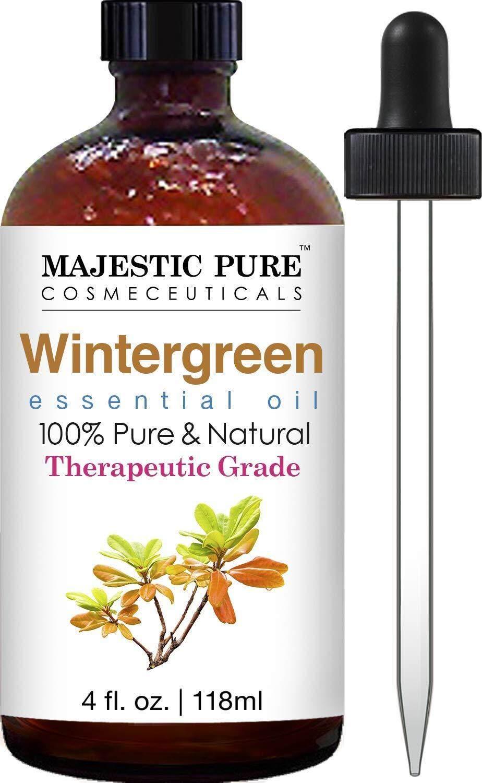 [ iiMONO ] Majestic Pure Wintergreen Oil, Premium Quality, 4 fl Oz
