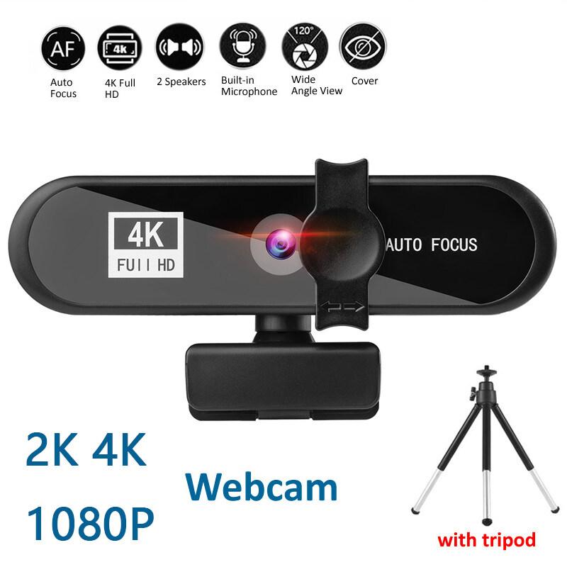 เว็บแคม2K 4Kเว็บแคมสำหรับเว็บแคมของพีซี1080P Fullเว็บแคมHDสำหรับคอมพิวเตอร์ออโต้โฟกัสกล้องเว็บแคม120องศาที่ถ่ายทอดสดWidescreenเว็บแคมสำหรับโทร,การประชุม