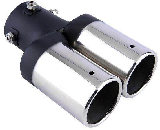 Car Twins Stright Exhaust Rear Tail Tip Pipe Muffler Silencer Universal