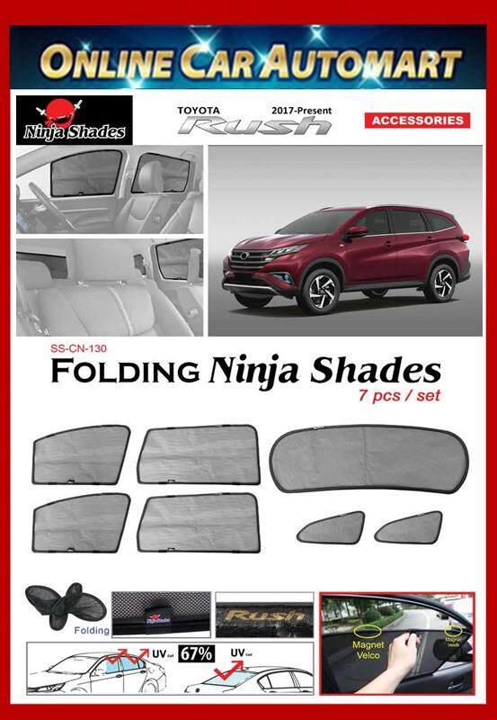 Toyota Rush (2017-Present) Magnetic Ninja Sun Shade (7pcs)