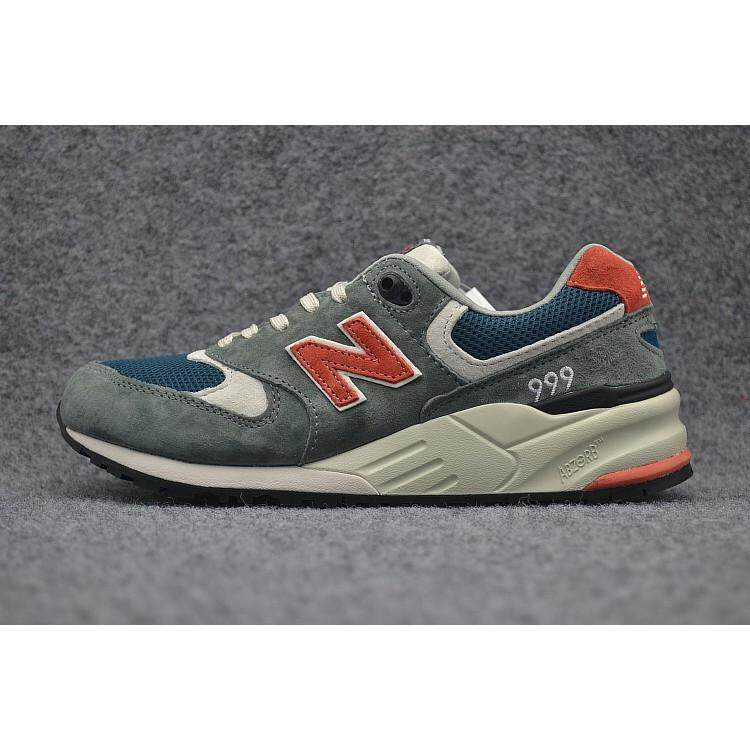 สอนใช้งาน  นครราชสีมา Original New Balance สีเทาสีฟ้าสีแดงรองเท้าผู้ชาย